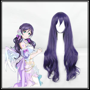 Anime LoveLive! Love Live Nozomi Tojo Purple Long Wavy Cosplay Wig Cosplay for Adult Women Halloween Carnival