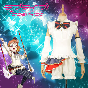 Love Live! Circus Unawakened Aqours Takami Chika Cosplay Costume for Halloween Carnival