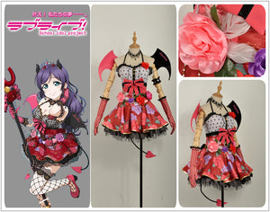 Love Live! Nozomi Tojo Devil Demon Fancy Cosplay Costume Custom Made for Halloween Carnival