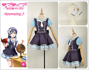Anime Love Live! Pirate Unawakened Sonada Umi Cosplay Costume Custom Made for Girls Adult Women Halloween Carnival Party Outfits