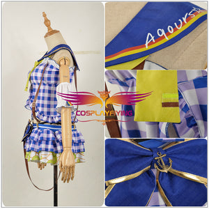 Anime Love Live! Sandy Beach Awakening Aqours Kanan Matsuura Dress Cosplay Costume
