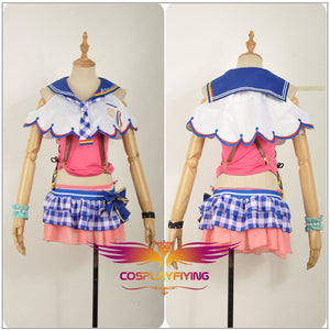Anime Love Live! Sandy Beach Awakening Aqours Sakurauchi Riko Dress Cosplay Costume