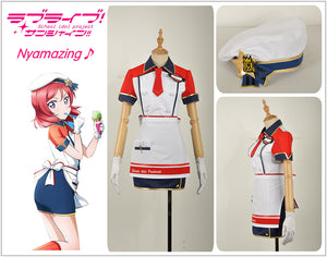 Love Live! Unawakened Ice Cream Nishikino Maki Cosplay Costume for Halloween Carnival