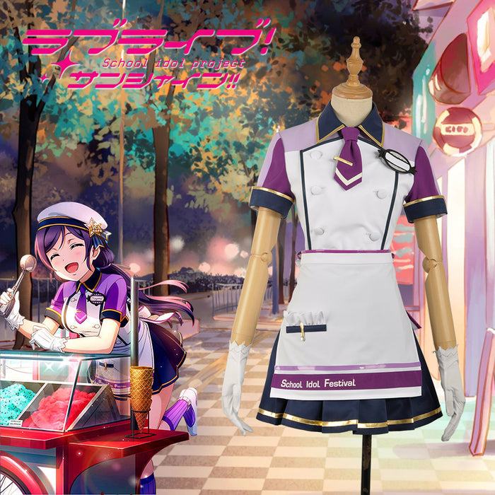 Love Live! Unawakened Ice Cream Tojo Nozomi Cosplay Costume for Halloween Carnival