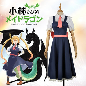 Anime Miss Kobayashi's Dragon Maid Tohru Lovely Female Lolita Dress Cosplay Costume for Carnival Halloween