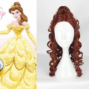 Anime Movie Beauty and The Beast Princess Belle Cosplay Wig Cosplay for Adult Men Halloween Carnival