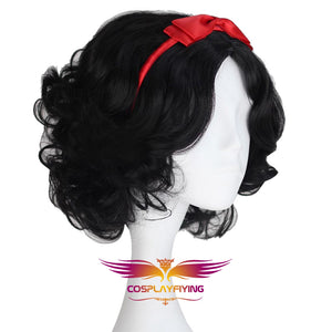 Anime Movie Disney Princess Snow White Black Wavy Hair Cosplay Wig Cosplay for Adult Women Halloween Carnival