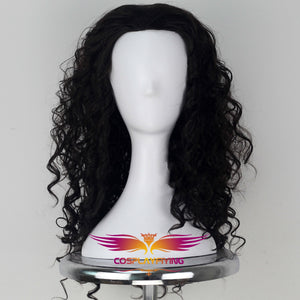Anime Movie Moana Maui Black Fluffy Long Hair Cosplay Wig Cosplay for Adult Men Halloween Carnival