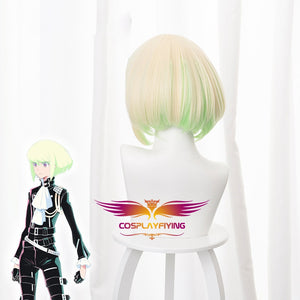 Anime Movie PROMARE Mad Burnish Lio Fotia 30cm Short Yellow Green Gradient Cosplay Wig Cosplay for Girls Adult Women Halloween Carnival Party
