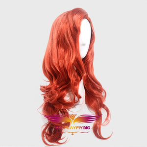 Anime Movie The Little Mermaid Princess Ariel Deep Red Wavy Cosplay Wig Cosplay Prop for Girls Adult Women Halloween Carnival