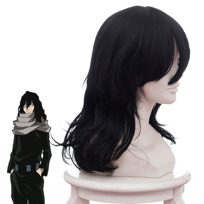 Anime My Hero Academia Baku No Hero Akademia Shouta Black Curly Cosplay Wig Cosplay for Boys Adult Men Halloween Carnival Party