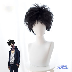 Anime My Hero Academia Baku No Hero Dabi Short Black Cosplay Wig Cosplay for Boys Adult Men Halloween Carnival Party