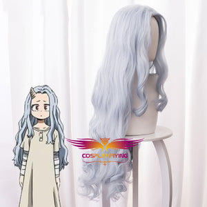 Anime My Hero Academia Baku No Hero Eri Chisaki Gray Blue Long Wavy Cosplay Wig Cosplay for Girls Adult Women Halloween Carnival Party