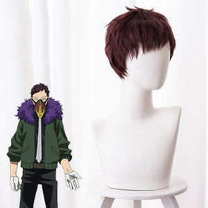 Anime My Hero Academia Baku No Hero Overhaul Chisaki Kai Red Brown Short Cosplay Wig Cosplay for Boys Adult Men Halloween Carnival Party