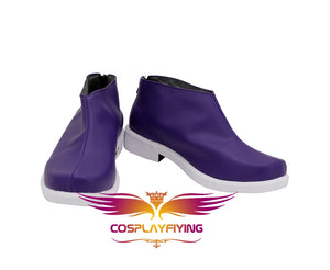Anime Mysterious JOKER Joker Purple Cosplay Shoes Boots Custom Made for Adult Men and Women Halloween Carnival
