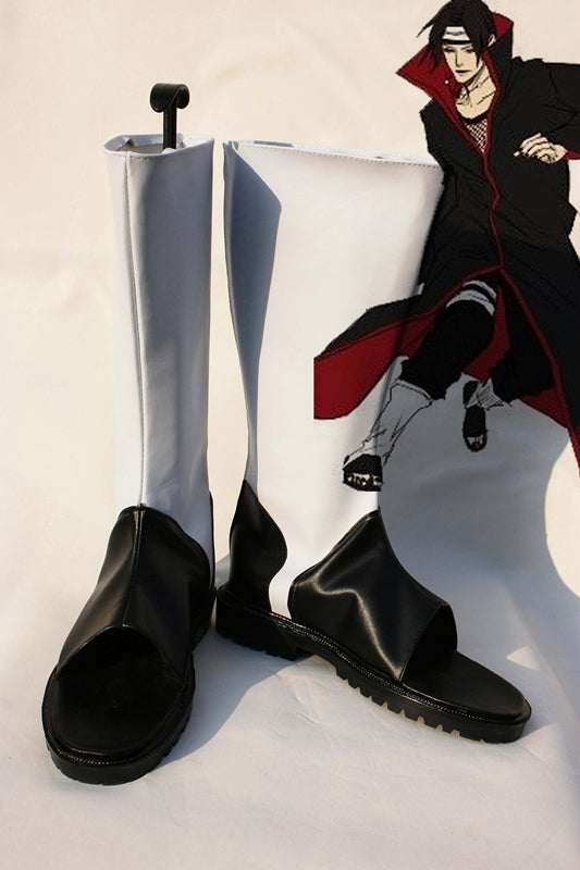 Anime NARUTO Akatsuki Uchiha Itachi Cosplay Shoes Boots Custom Made for Adult Men and Women Halloween Carnival