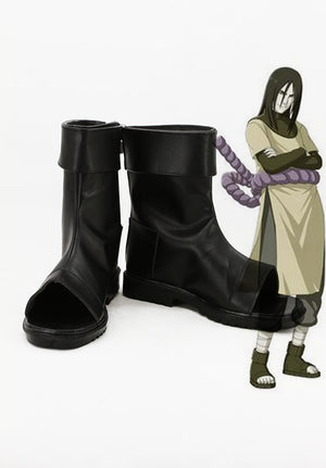 Anime NARUTO Orochimaru Cosplay Shoes Boots Custom Made for Adult Men and Women Halloween Carnival