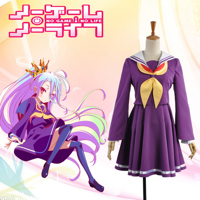 NO GAME NO LIFE Shiro Cosplay Costume Custom Made for Adult Women Purple Summer Dress Carnival Halloween