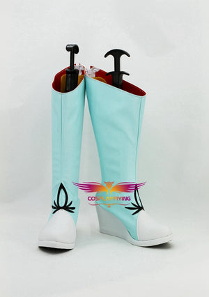 Anime RWBY White Trailer Weiss Schnee Cosplay Shoes Boots Custom Made for Adult Men and Women Halloween Carnival