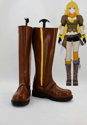 Anime RWBY Yellow Trailer Yang Xiao Long Cosplay Shoes Boots Custom Made for Adult Men and Women Halloween Carnival