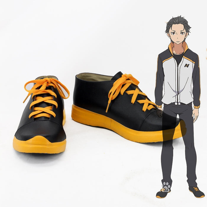 Anime Re Life in a Different World from Zero Natsuki Subaru Cosplay Shoes Boots Custom Made for Adult Men and Women Halloween Carnival