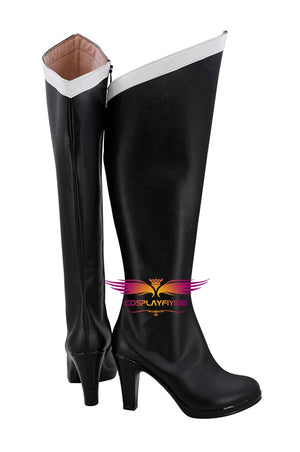 Anime Sailor Moon Sailor Pluto Meiou Setsuna Cosplay Shoes Boots Custom Made for Adult Men and Women Halloween Carnival