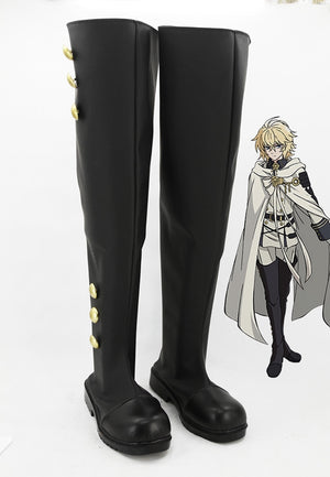 Anime Seraph of the end Ferid Bathory Cosplay Shoes Boots Custom Made for Adult Men and Women Halloween Carnival