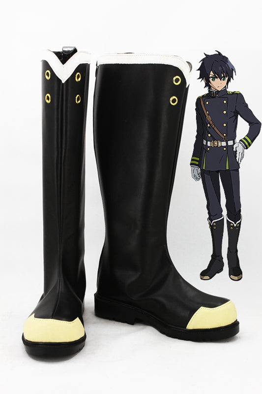 Anime Seraph of the end Yuichiro Hyakuya Cosplay Shoes Boots Custom Made for Adult Men and Women Halloween Carnival