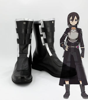 Anime Sword Art Online Ⅱ Phantom Bullet Kirigaya Kazuto Cosplay Shoes Boots Custom Made for Adult Men and Women Halloween Carnival