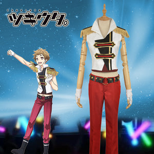 Anime THE ANIMATION Tsukiuta Procellarum Iku Kannazuki Stage Uniform Cosplay Costume for Carnival Halloween