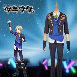 Anime THE ANIMATION Tsukiuta Six Gravity Satsuki Aoi Stage Uniform Cosplay Costume for Carnival Halloween