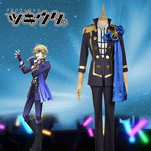 Anime THE ANIMATION Tsukiuta Six Gravity Yayoi Haru Stage Uniform Cosplay Costume for Carnival Halloween