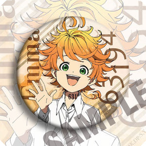 Anime The Promised Neverland 12 Types Badge Emblem Cosplay Props Accessories