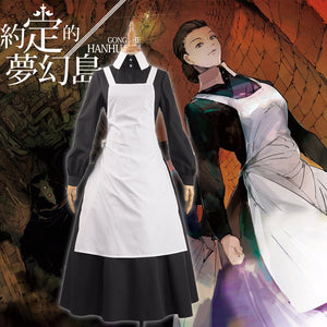 Anime The Promised Neverland Mother Cosplay Costume Women Dress Gothic dress Chef Maid Skirt for Party Girls Clothing