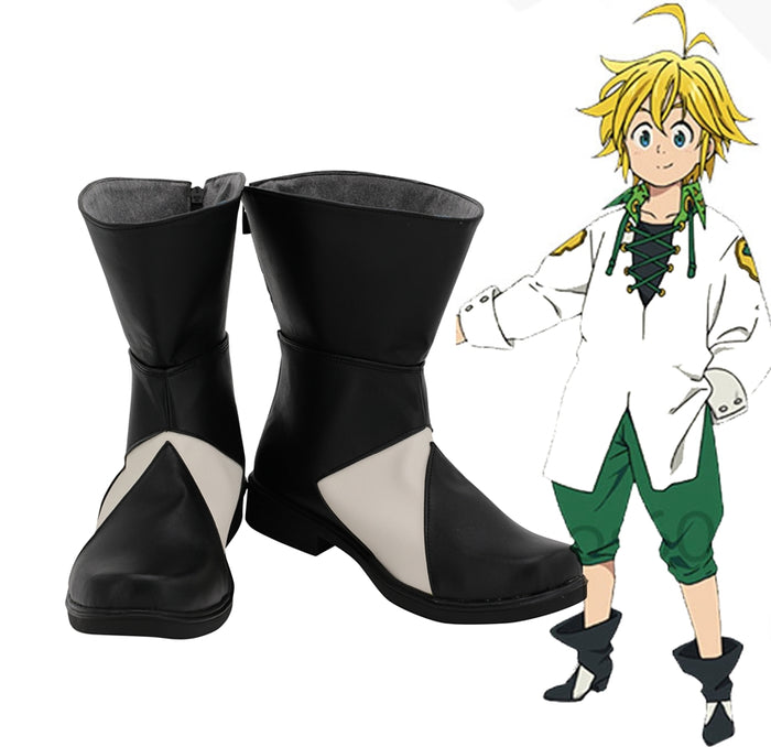 Anime The Seven Deadly Sins: Revival Of The Commandments Meliodas Cosplay Shoes Boots Custom Made for Adult Men and Women Halloween Carnival