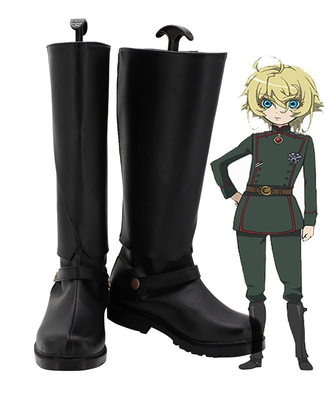 Anime Youjo Senki Saga of Tanya the Evil Tanya Von Degurechaff Cosplay Shoes Boots Custom Made for Adult Men and Women Halloween Carnival