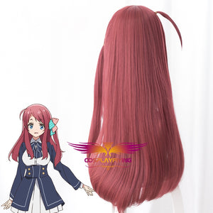 Anime Zombieland Saga Sakura Minamoto Red Long Straight Cosplay Wig Cosplay for Girls Adult Women Halloween Carnival Party