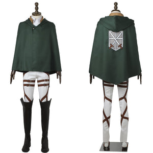 Attack on Titan Eren Yeager Shingeki no Kyojin Scout Legion Uniform Cosplay Costume for Halloween Carnival