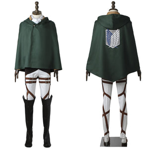 Attack on Titan Levi Rivaille Rival Ackerman Shingeki no Kyojin Survey Corps Uniform Cosplay Costume for Halloween Carnival
