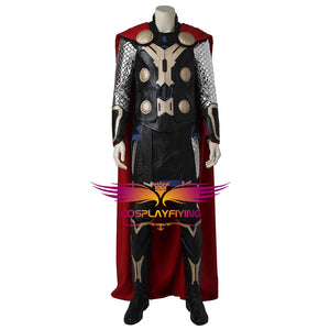 Marvel Avengers 2 : Age of Ultron Thor Son of Odin Battle Suit with Cloak Cosplay Costume Full Set for Halloween Carnival