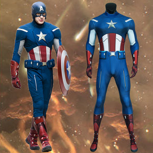 Marvel Avengers Captain America Steve Rogers Jumpsuit for Carnival Halloween Classic Luxurious Version