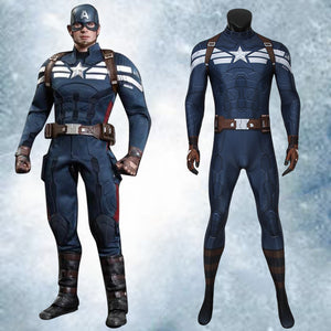 Marvel Movie Avengers Captain America: The Winter Soldier Steve Rogers Jumpsuit for Carnival Halloween Luxurious Version