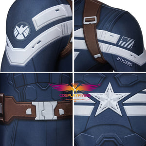 Avengers Captain America: The Winter Soldier Steve Rogers Jumpsuit for Carnival Halloween