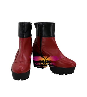 Avengers: Endgame Captain Marvel Carol Danvers Cosplay Shoes Boots Custom Made for Adult Men and Women