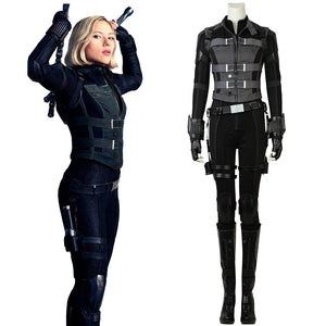 Marvel Comics Avengers 3: Infinity War Black Widow Natasha Romanoff Cosplay Costume Battle Suit Full Set for Halloween Carnival
