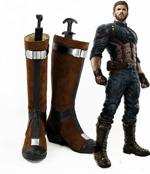 Avengers: Infinity War Captain America Steve Rogers Cosplay Shoes Boots Custom Made for Adult Men and Women
