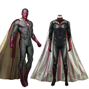 Marvel Avengers 3: Infinity War Vision Jumpsuit Adult Men Cosplay Costume Full Set for Halloween Carnival