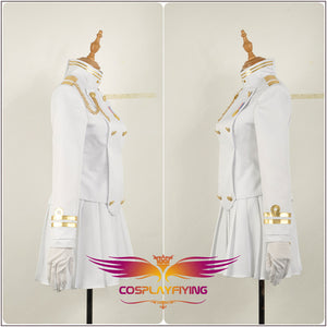 Azur Lane IJN Takao White Uniform Women Skirt Cosplay Costume Full Set Outfit