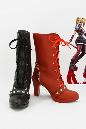 Batman: Arkham Knight Harley Quinn Cosplay Shoes Boots Custom Made for Adult Men and Women