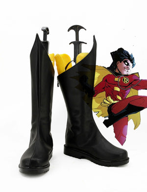 Batman Boy Wonder Robin Cosplay Shoes Boots Custom Made for Adult Men and Women